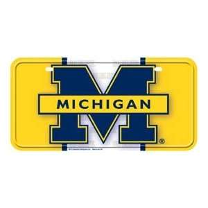 Metal Novelty Car License Plate Michigan Wolverines