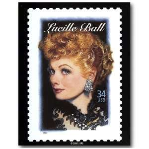 Lucille Ball Tin Metal Sign  Postage Stamp