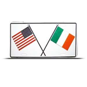 Italy Italian American Flag Metal License Plate Sign