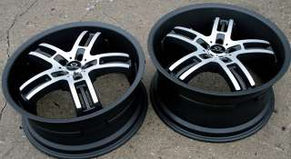 LORENZO WL026 20 BLACK RIMS WHEELS LEXUS LS430 STAGGERED
