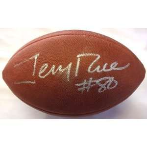 Jerry Rice Autographed/Hand Signed NFL Football JSA F07828
