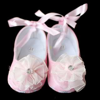 Toddler baby girls Princess flower Dance Sandals white shoes Size:US