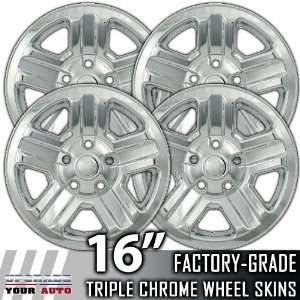 2007 2012 Jeep Wrangler 16 Chrome Wheel Skin Covers