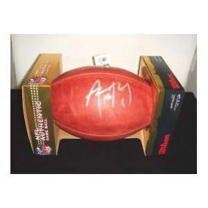 AARON RODGERS SIGNED AUTOGRAPHED OFFICIAL DUKE FOOTBALL GREEN BAY