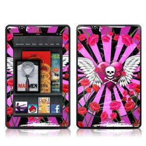 Skull & Roses Pink Design Protective Decal Skin Sticker   High Gloss