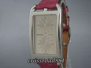 Ladies Hermes Cape Cod Two Time Zone Wrist Watch Beautiful Condition