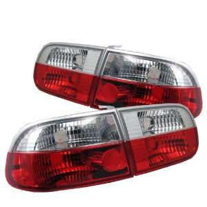 1992 1995 Honda Civic HB Red/Clear SR Tail Lights Automotive