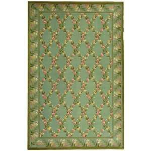 Wilton Collection Hand Hooked Wool Area Rug 4.00 x 4.00