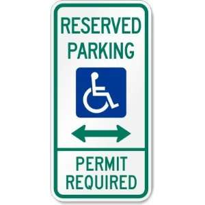 Reserved Parking Permit Required (handicapped symbol and