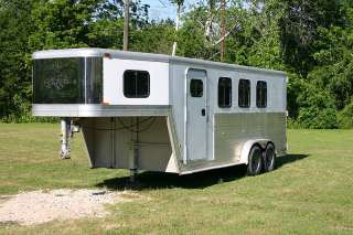 2001 Kiefer Built Genesis X 3 3 Horse Slant Trailer 2001 Kiefer Built
