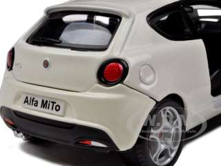 ALFA ROMEO MITO WHITE 124 DIECAST CAR MODEL