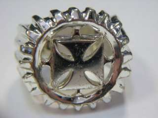 NEW No Fear Mens Iron Spinning Cross Ring sz 11