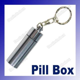 17x61mm Mini Waterproof Aluminum Pill Box Case Bottle Container