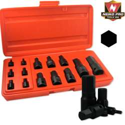 STANDARD SIZE HEX ALLEN BIT SOCKET DRIVE TOOL SET FOR WRENCH