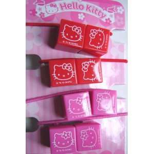 Hello Kitty Cube Hair Accessories   Ponytail Holders