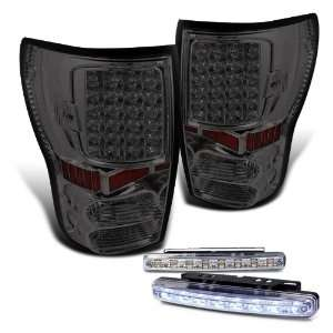 Eautolights 07 2010 Toyota Tundra Smoke LED Tail Lights + 8 LED Bumper