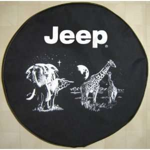 SpareCover® Brawny Series   Jeep® 32 Jungle Scene Tire