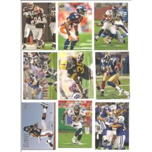 9 Card Lot of 2008 Upper Deck NFL Stars . . . Featuring