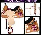 15 DOUBLE T WESTERN BARREL RACER BLUE ZEBRA CROSS TRAIL SHOW HORSE