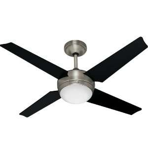 Hunter Fan 21585 Core Ceiling Fans 52 Inch Brushed Nickel with 4 Black