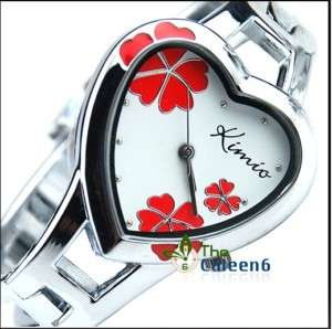 New Charm Fashion Women Heart Ladies Bracelet Watch 440