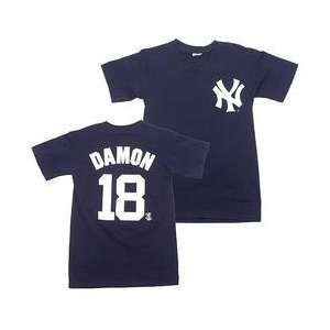 com New York Yankees Johnny Damon Player Name & Number Youth T Shirt