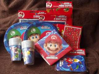 Super Mario Bros.Wii 67 Pc Birthday PARTY PACK/SET 4 16
