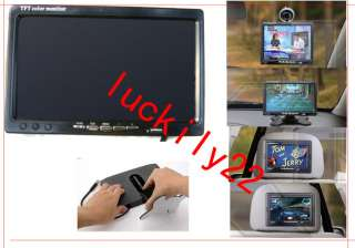 Mini 7 TFT LCD Display Color Monitor 2CH Video Input