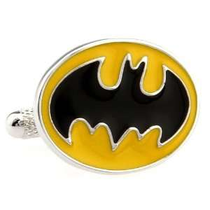 1960s Retro Super Hero Batman Design Cufflinks Cuff Links