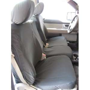 Center Console Custom Exact Seat Covers, Graphite Automotive Twill
