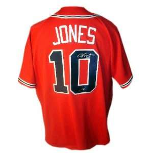 Chipper Jones Atlanta Braves Autographed Red Jersey