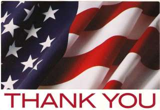LARGE Thank You United States of American Flag Decal St