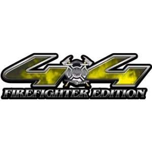 Firefighter Edition Fire Yellow 4x4 Truck & SUV Decals Automotive