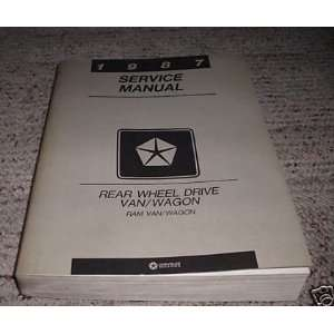 1987 Dodge Ram Van Wagon Service Repair Manual RWD Oem