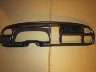 98 99 00 01 DODGE RAM RADIO DASH BEZEL WOODGRAIN
