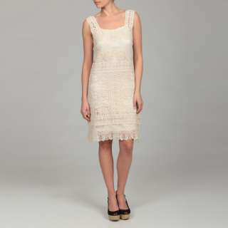 Gossip Girl Womens Beige Lace Dress