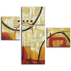Hand painted Abstract Art 4 piece Canvas Set