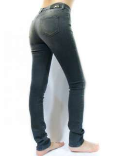 Womens Super Stretch Skinny Grey Rock Roll Jeans Hi   Vy 883B