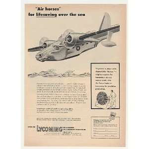 1953 Air Horse Sea Plane Avco Lycoming Artzybasheff Print