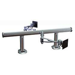 to Back Extra long Horizontal Dual Monitor Desk Mount