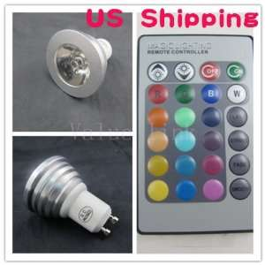 3w Remote Control Gu10 16 Color RGB LED Bulb Light 85 265v Spotlight