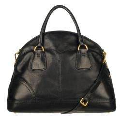 Prada Cervo Shine Leather Bowler Bag
