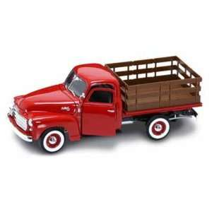 1950 GMC Stake Bed Pick Up Truck 1/18 Red Toys & Games