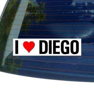 I Love Heart DIEGO   Window Bumper Laptop Sticker