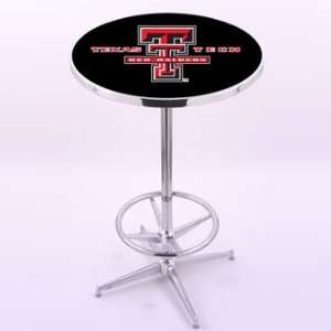 Holland Bar Stool Co. Texas Tech University Chrome Pub