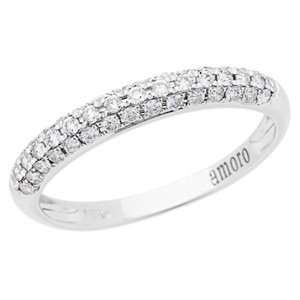 0.33 Carat 18kt White Gold Diamond Ring Jewelry