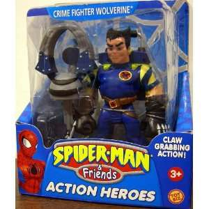 Spider Man & Friends Crime Action Fighter Wolverine Action Heroes with