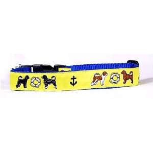 Designer Portuguese Water Dog Collar   Yellow Portuguese Water Dog