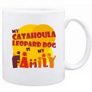 New  My Catahoula Leopard Dog Is My Family  Mug Dog