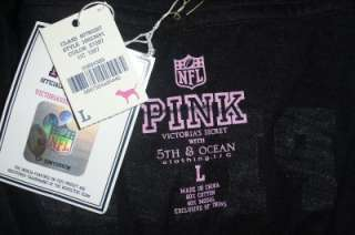 NWT Victorias Secret PINK Oakland RAIDERS NFL Football Logo Jersey T